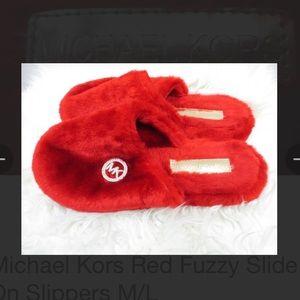 Michael Kors Red Slippers
